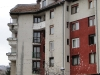 Flats in Sarajevo still showing wounds from the war