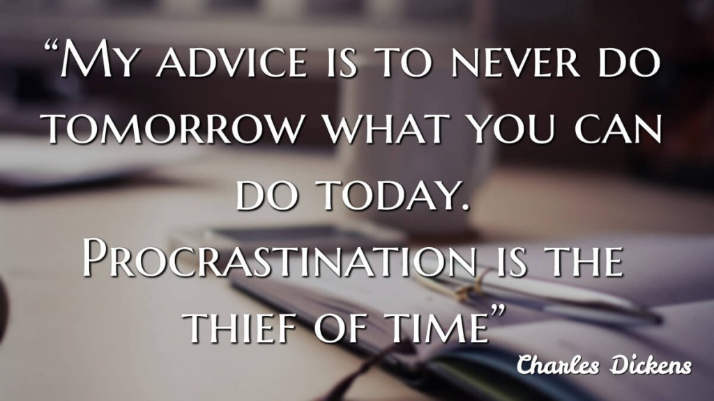 """My advice is to never do tomorrow what you can do (jtdyer.com)"