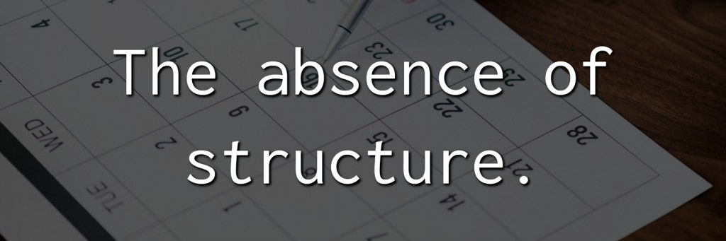 The absence of structure.- Why we procrastinate jtdyer.com